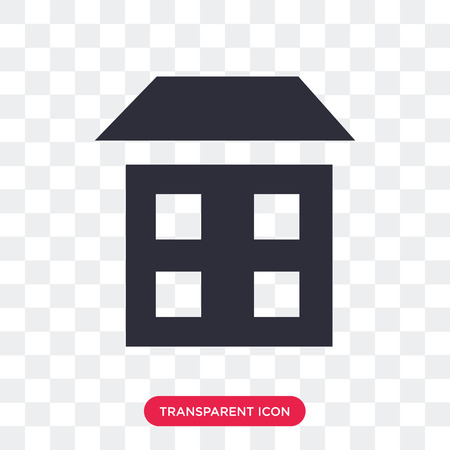 House vector icon isolated on transparent background, House logo concept