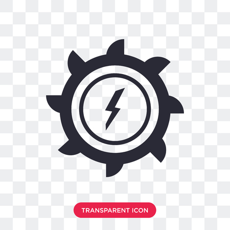 Hydro power generation vector icon isolated on transparent background, Hydro power generation logo concept Illustration
