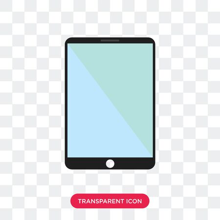 tablet vector icon isolated on transparent background Illustration