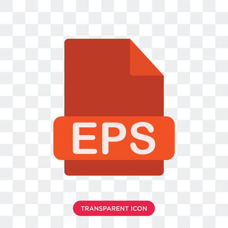Eps vector icon isolated on transparent background, Eps logo concept