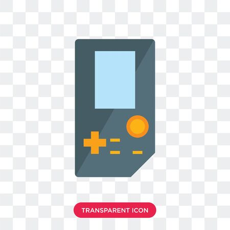 game vector icon isolated on transparent background Illustration