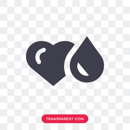 Blood vector icon isolated on transparent background, Blood logo concept
