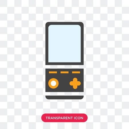 game vector icon isolated on transparent background Stock Illustratie