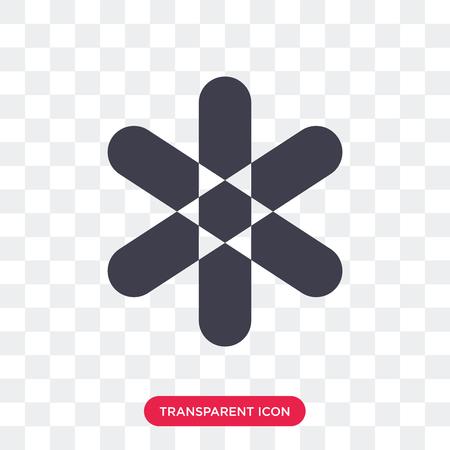 Asterisk vector icon isolated on transparent background, Asterisk logo concept Ilustração