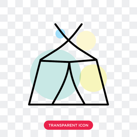 Tent vector icon isolated on transparent background, Tent logo concept 矢量图像