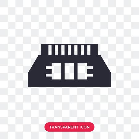 Icona di vettore di chip di memoria ad accesso casuale isolato su sfondo trasparente, concetto di logo di chip di memoria ad accesso casuale Logo