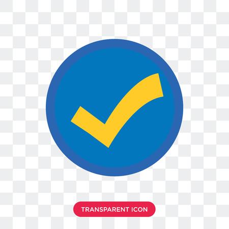 Accepter l'icône de vecteur isolé sur fond transparent, accepter le concept de logo