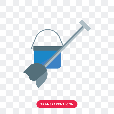 Mop vector icon isolated on transparent background, Mop logo concept Иллюстрация