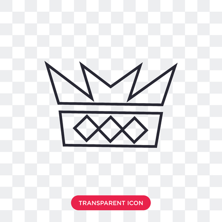 Crown vector icon isolated on transparent background, Crown logo concept