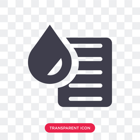 Blood test vector icon isolated on transparent background, Blood test logo concept