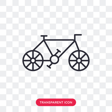 Old Bicycle vector icon isolated on transparent background, Old Bicycle logo concept