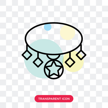 Necklace vector icon isolated on transparent background, Necklace logo concept Stok Fotoğraf - 114402145