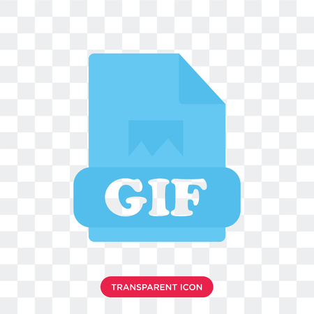 Gif vector icon isolated on transparent background, Gif logo concept