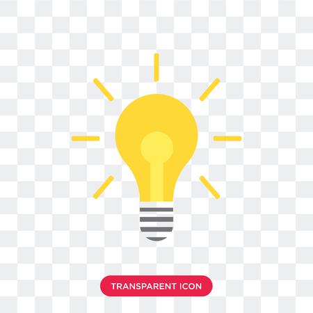 Glühbirnenvektorikone lokalisiert auf transparentem Hintergrund, Glühbirnenlogokonzept