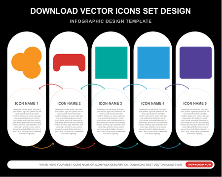 5 vector icons such as Snooker, Billiard, Die, Dice, Button for infographic, layout, annual report, pixel perfect icon