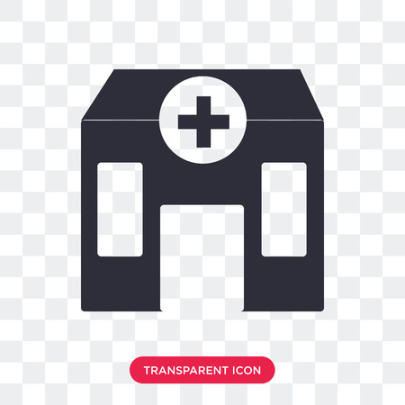 Clinic vector icon isolated on transparent background, Clinic logo concept
