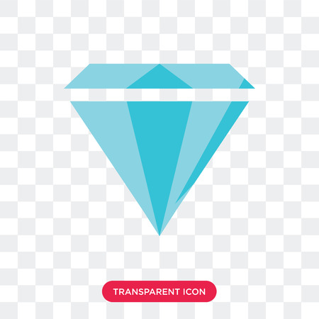 Diamond vector icon isolated on transparent background, Diamond logo concept Stok Fotoğraf - 114401446