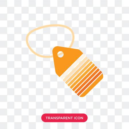 Tag vector icon isolated on transparent background, Tag logo concept Ilustração