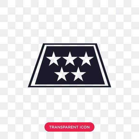 Five stars vector icon isolated on transparent background, Five stars logo concept Illustration