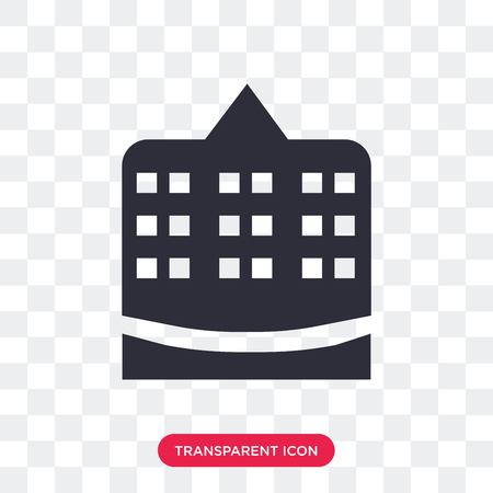 Town hall vector icon isolated on transparent background, Town hall logo concept Illustration