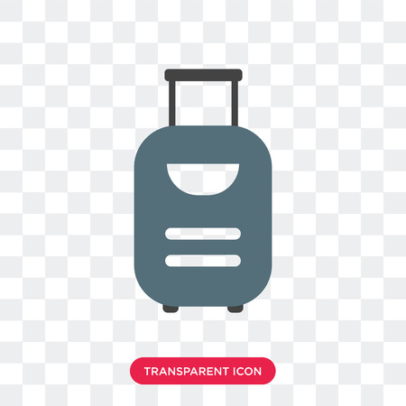 Suitcase vector icon isolated on transparent background, Suitcase logo concept