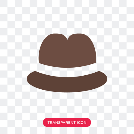 Fedora vector icon isolated on transparent background, Fedora logo concept