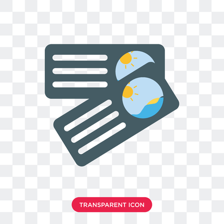 Postcard vector icon isolated on transparent background, Postcard logo concept