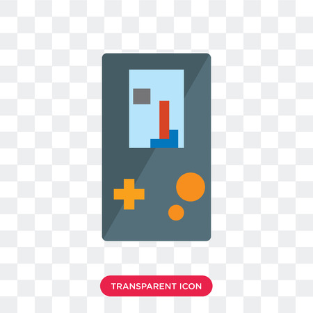 Game vector icon isolated on transparent background, Game logo concept Ilustração
