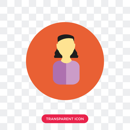 Avatar vector icon isolated on transparent background, Avatar logo concept