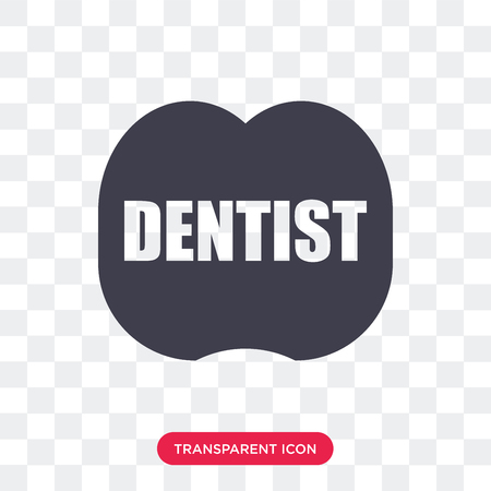 Dentist vector icon isolated on transparent background, Dentist logo concept Illusztráció