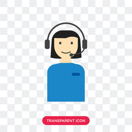 Customer service vector icon isolated on transparent background, Customer service logo concept