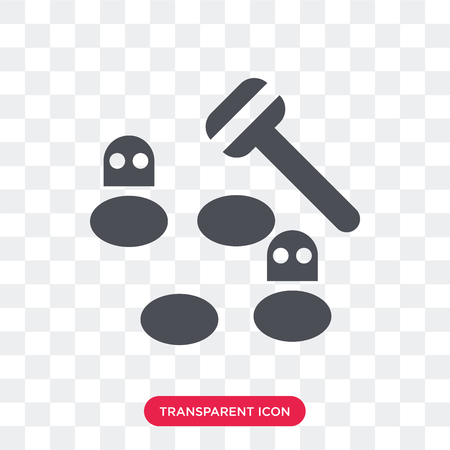 Whack a mole vector icon isolated on transparent background, Whack a mole logo concept