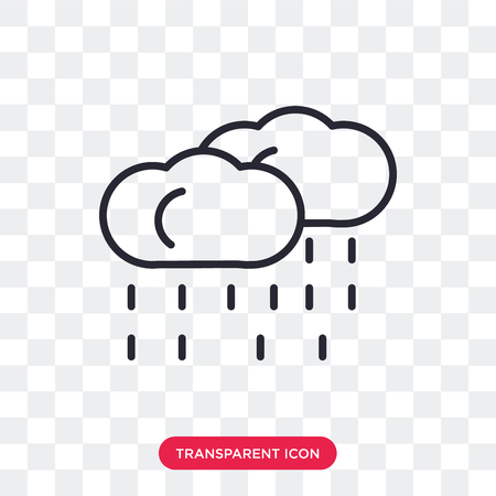 Rainy vector icon isolated on transparent background, Rainy logo concept
