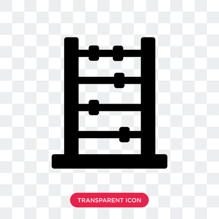 Abacus vector icon isolated on transparent background, Abacus logo concept