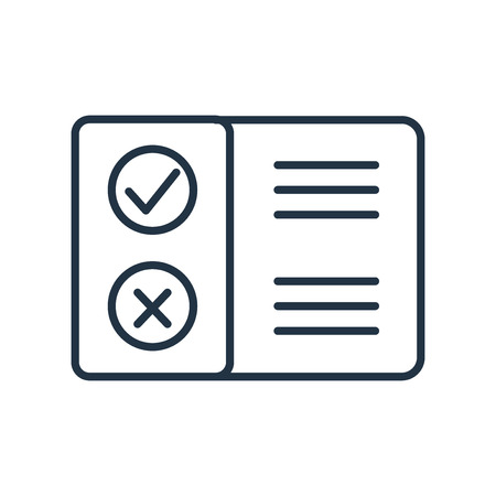 Pros and cons icon vector isolated on white background, Pros and cons transparent sign