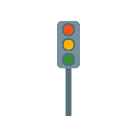 Traffic light icon vector isolated on white background for your web and mobile app design, Traffic light logo concept
