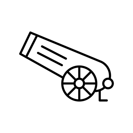 Cannon icon vector isolated on white background, Cannon transparent sign , thin line design elements in outline style Illustration