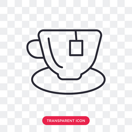Hot tea vector icon isolated on transparent background, Hot tea logo concept