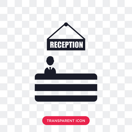 Reception vector icon isolated on transparent background, Reception logo concept