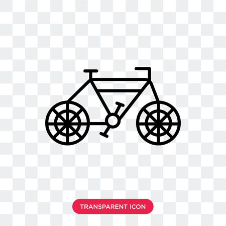 Bicycle vector icon isolated on transparent background, Bicycle logo concept Vectores