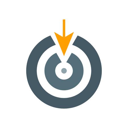 Dartboard-Symbolvektor lokalisiert auf weißem Hintergrund für Ihr Web- und mobiles App-Design, Dartboard-Logo-Konzept