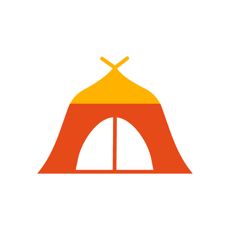 Tent icon vector isolated on white background for your web and mobile app design, Tent logo concept Stock Illustratie