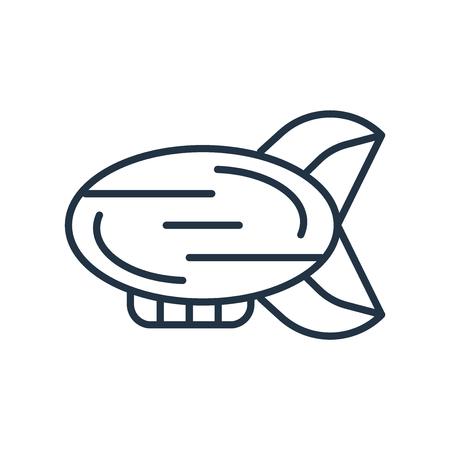 Blimp-Symbolvektor isoliert auf weißem Hintergrund, Blimp-transparentes Zeichen