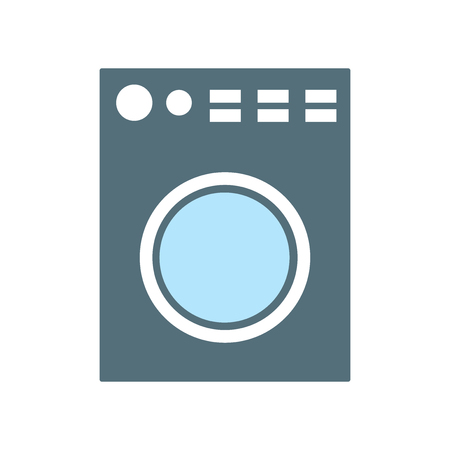 Washing machine icon vector isolated on white background for your web and mobile app design, Washing machine logo concept