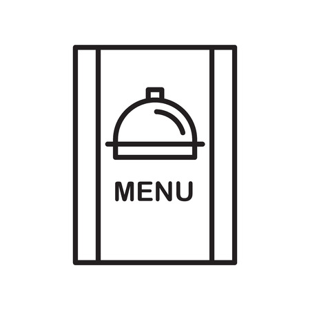 Menu icon vector isolated on white background, Menu transparent sign , thin line design elements in outline style