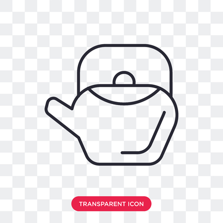 Teapot vector icon isolated on transparent background, Teapot logo concept Ilustrace