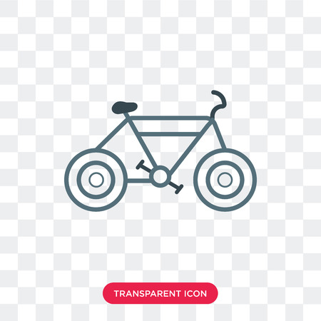 Cycling vector icon isolated on transparent background, Cycling logo concept Vectores