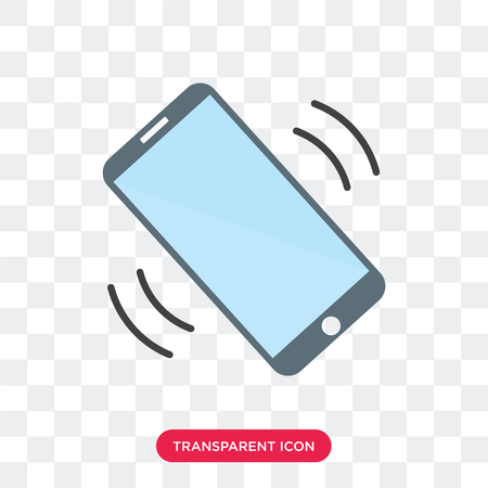 Phone call vector icon isolated on transparent background, Phone call logo concept