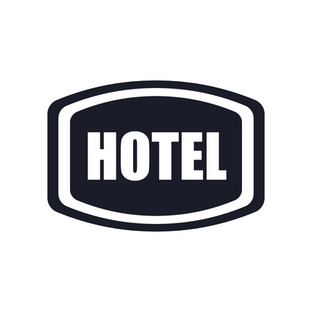 Hotel sign icon vector isolated on white background for your web and mobile app design, Hotel sign logo concept