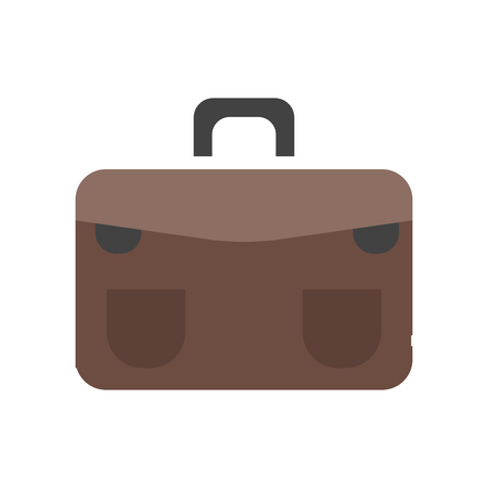 Briefcase icon vector isolated on white background for your web and mobile app design, Briefcase logo concept